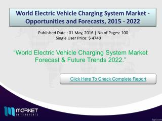 Revenue Analysis on World Electric Vehicle Charging System Market 2022