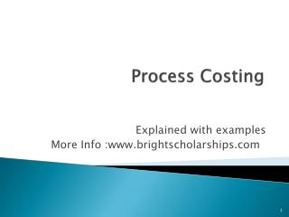 Process Costing Explained