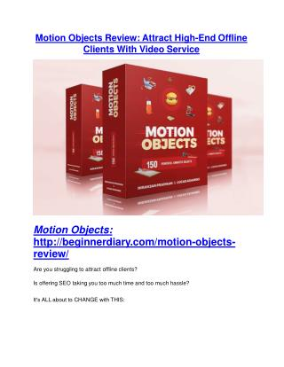 Motion Objects REVIEW & Motion Objects (SECRET) Bonuses