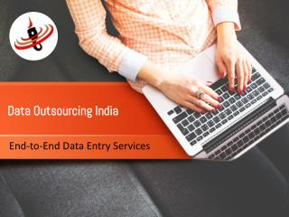 End to End Data entry services