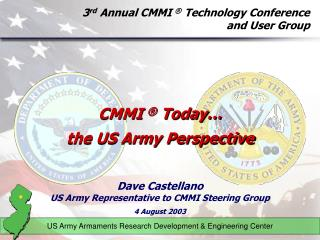 3 rd  Annual CMMI  ®  Technology Conference  and User Group