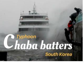 Typhoon Chaba batters South Korea