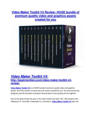 Video Maker Toolkit V4 Detail Review and Video Maker Toolkit V4 $22,700 Bonus