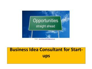 Business Idea Consultant for Start-ups