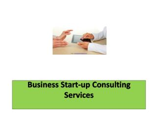Business Start-up Consulting Services