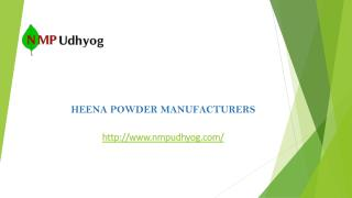 Henna Powder Manufacturers