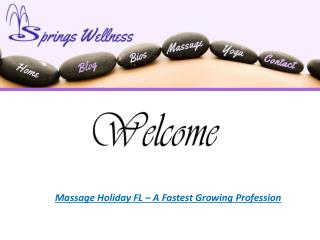 Enjoy the Optimum Possible Relaxation With Quality Massage in Holiday FL