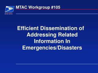 MTAC Workgroup #105