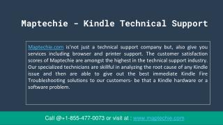 Maptechie - Kindle technical support