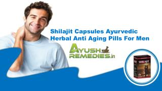 Shilajit Capsules Ayurvedic Herbal Anti Aging Pills For Men