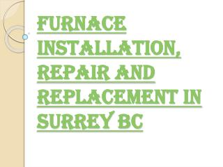 Best Furnace Installation Services in Surrey BC