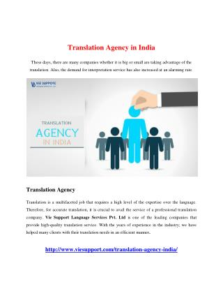 Translation Agency in India