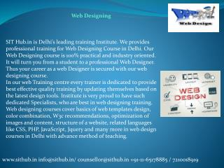 Web Designing - Course, Training, Institute in Janakpuri, Dwarka, Uttam Nagar
