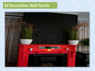 3d Decorative Wall Panels