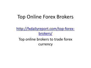 Best Forex Trading Brokers
