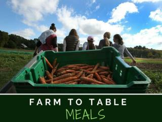 Farm to table meals