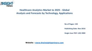 Healthcare Analytics Market to 2025 - Global Analysis and Forecasts by Technology, Applications