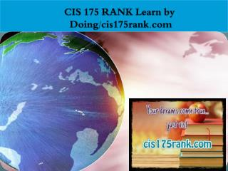 CIS 175 RANK Learn by Doing/cis175rank.com