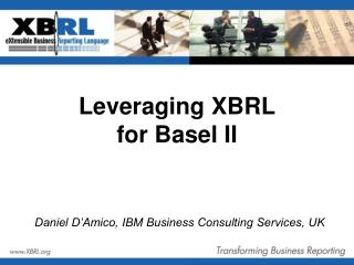 Leveraging XBRL for Basel II