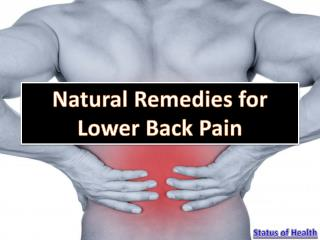 Natural Remedies for Lower Back Pain