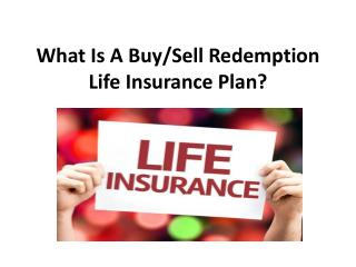 What Is A Buy/Sell Redemption Life Insurance Plan?