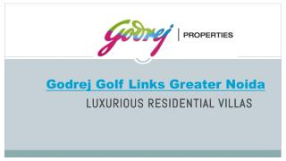 Godrej Golf Links Villas Greater Noida