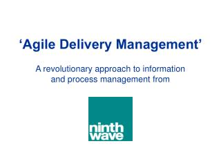 'Agile Delivery Management'