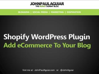 Shopify WordPress Plugin Review
