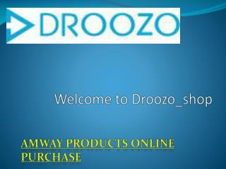Up to 20% Discount on Amway Products by Droozo_shop