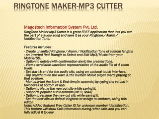 Ring tone maker mp3 cutter app for free