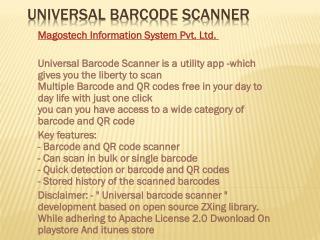 Universal barcode scanner