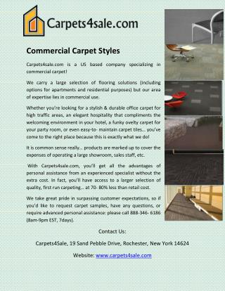 Commercial Carpet Styles