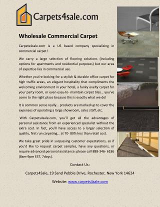 Wholesale Commercial Carpet