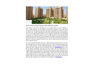 Buy Your Dream Luxurious Apartments With World-Class Amenities