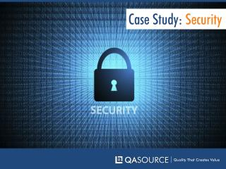Case Study - Security Software Testing