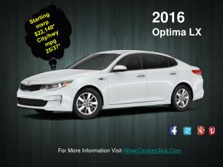 Kia Optima Dealership In PA | 2016 Kia Optima Hybrid For Sale : Century3kia