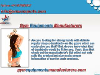Fitness Equipments Manufacturers in India