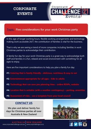Five considerations for your work Christmas party