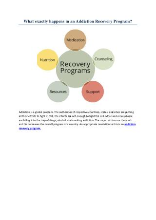 What exactly happens in an Addiction Recovery Program?