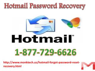 Hotmail change Password On 1-877-729-6626 United States