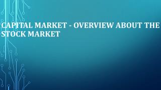 Capital Market - Overview about the Stock Market