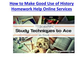 10 Tips for Your History Homework Help from MyAssignmenthelp.com