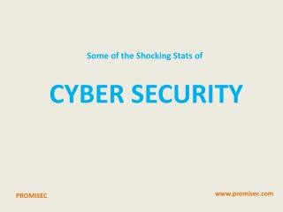Some of the Shocking Stats of Cyber Security