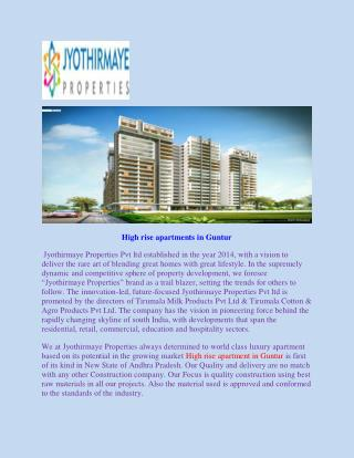 High rise apartments in Guntur