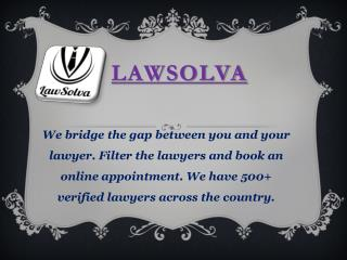 Hire Top lawyers in India Online