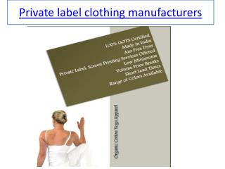 private label t shirt manufacturers