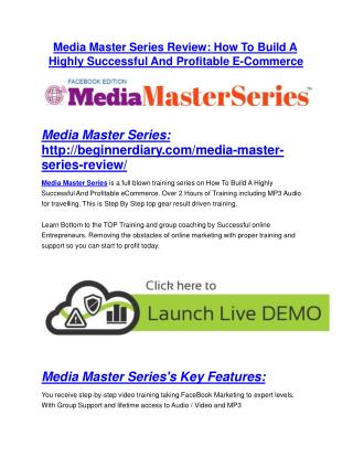 Media Master Series Review - Media Master Series DEMO & BONUS