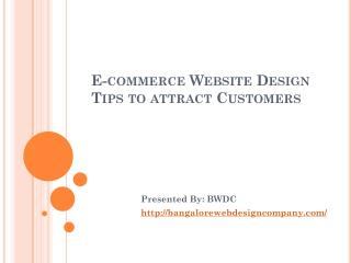 e commerce website design tips