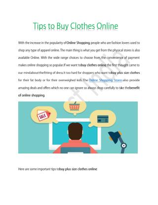 Tips to Buy Clothes Online | Buy plus size clothes | Online shopping store | Benefits Online Shopping