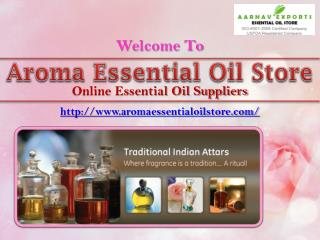 Get Wide Collection of Traditional Indian Attars at Aromaessentialoilstore.com